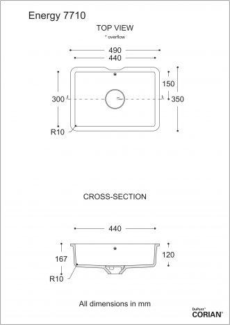 כיור אמבט דגם אנרג'י 7710