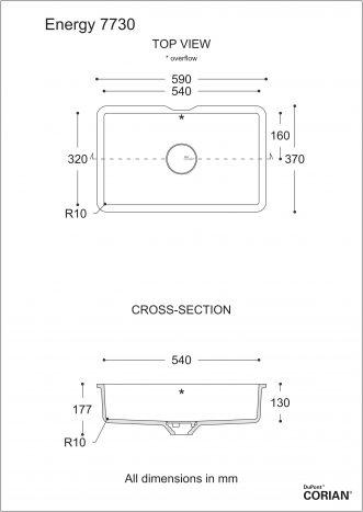 כיור אמבט דגם אנרג'י 7730