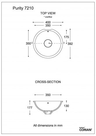 כיור אמבט דגם פיוריטי 7210