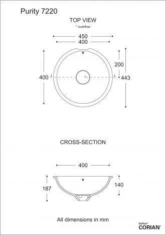 כיור אמבט דגם פיוריטי 7220