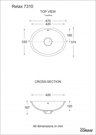 כיור אמבט דגם רילקס 7310