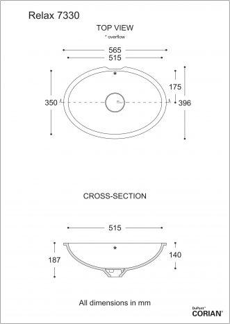כיור אמבט דגם רילקס 7330