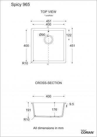כיור מטבח דגם ספייסי 965